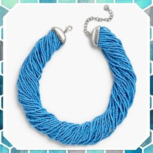 Talbots Thirty Strand Blue Beaded Necklace